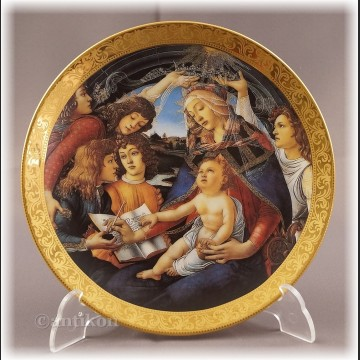 Talerze kolekcjonerske Madonna Boticcelli włoska cała kolekcja