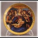 Talerz kolekcjonerski Madonna Boticcelli włoska cała kolekcja