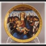 Talerze kolekcjonerskie Madonna Boticcelli włoska cała kolekcja
