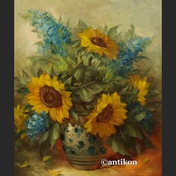 Obraz słoneczniki olejny na płótnie