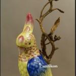 Świeczniki Pod papugami porcelana z brązem