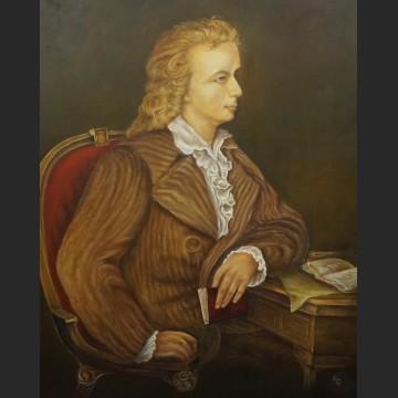 Portret arystokraty obraz olejny Panicz na krześle