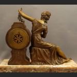 Zegar kominkowy antyk do salonu Francja XIX wiek