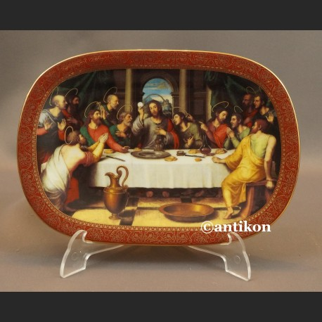 Ostatnia wieczerza talerz bawarska porcelana