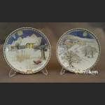 Seria talerzy ściennych Rosenthal Zima