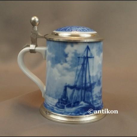 Prezent dla marynarza kufel kobalt