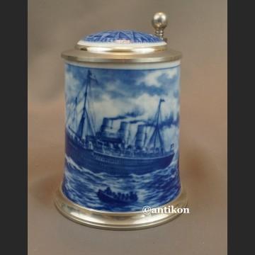 Kufel ze statkiem prezent dla marynarza