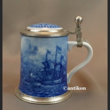 Prezent marynarski kufel porcelanowy do piwa