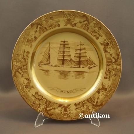 Prezent dla marynarza żaglowiec talerz kolekcjonerski 2