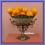 Patera na owoce porcelanowa duża