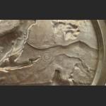 Relief myśliwski talerz z cyny głuszec