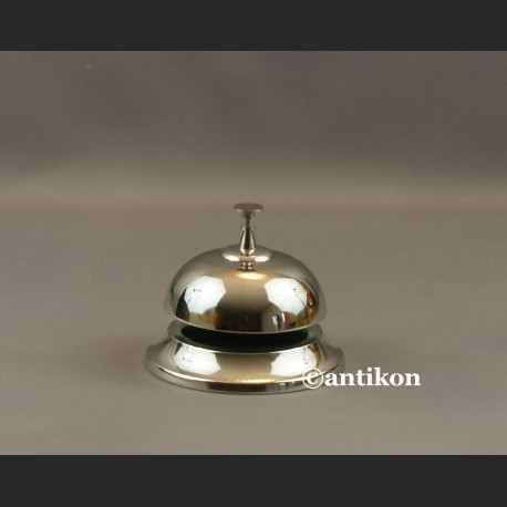 Dzwonek hotelowy do recepcji duży srebrny