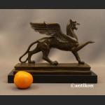 Gryf rzeźba prawdziwy brąz duża figura