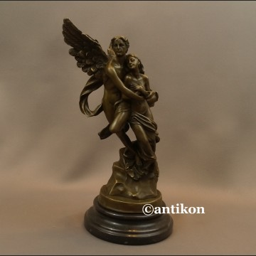 Amor i Psyche rzeźba z brązu prezent ślubny