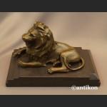Lew rzeźba z brązu art deco prezent