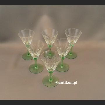 Kieliszki zielone zestaw do likieru