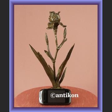 Świecznik tulipan z brązu secesyjny francuski