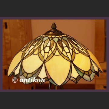 Wspaniała duża secesyjna witrażowa lampa Tiffany