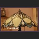 SALONOWA SECESYJNA LAMPA TIFFANY WITRAŻOWA DUŻA