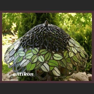 Lampa witrażowa drzewo zielona wyjątkowa