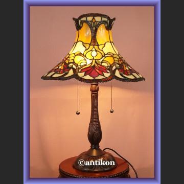Rewelacyjna duża salonowa lampa Tiffany witrażowa