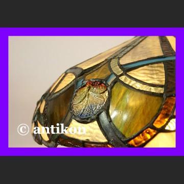 Duża witrażowa lampa Tiffany z ważkami śliczna