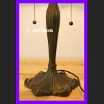 Elegancka duża lampa Tiffany prześliczne ważki