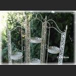 Kwietnik parawan duży prowansalski biały metalowy