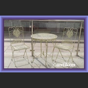 Krzesła 2 szt prowansalskie meble ogrodowe metalowe meble do ogrodu