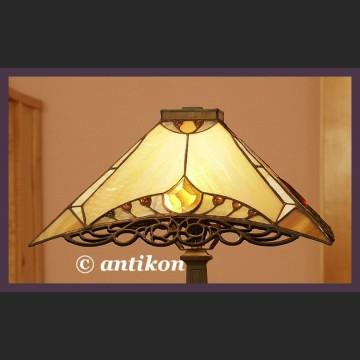 Lampa witrazowa gabinetowa Tiffany piekny wzór