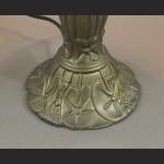 Lampa witrażowa nieduża zielona z ważką