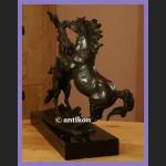 Rzeźba konie kominkowy brąz ogromna figura koń