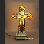 Krzyż świecący lampa witrażowa niezwykła