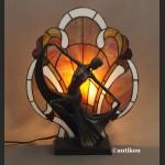 Lampa witrażowa Tancerka secesyjna w stylu Tiffany