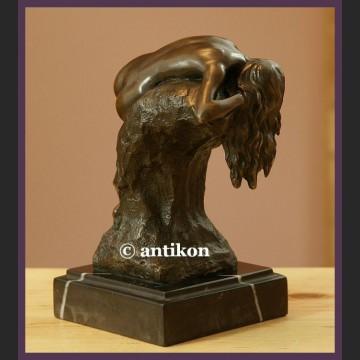 Figurka z brązu piękny akt kobiety rzeźba Art Deco