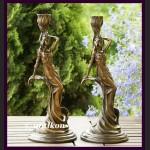 Para świeczników Francja secesja prawdziwy brąz