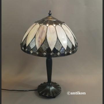 Lampa witrażowa klasyka do salonu Tiffany
