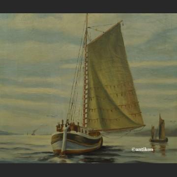 Obraz łodzie na morzu elegancki prezent