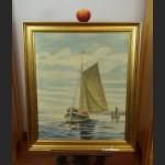 Brzeg morza o zachodzie słońca malarstwo olejne do opisania xxxxx