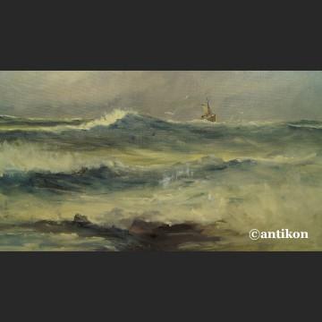 Obraz morze marynistyka obraz olejny na płótnie