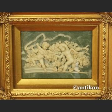 Relief  alabastrowy Aniołki alabaster obraz z aniołami