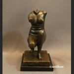 Modernistyczna rzeźba Venus z brązu popiersie kobiety