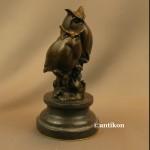 Sowa rzeźba dwie mądre sowy prezent dla naukowca