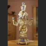 Świecznik z pięknej porcelany jak Sevres ogromny