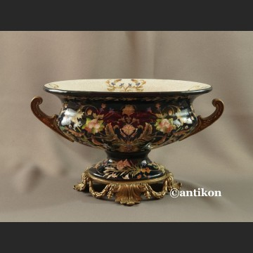 Patera ręcznie malowana porcelana z brązem