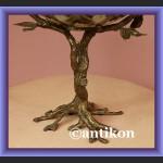 Patera porcelanowa drzewko porcelana z brązem
