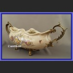 Patera porcelanowa na prezent ślubny porcelana z brązem