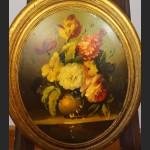 Obraz bukiet kwiatów  miniatura w owalu