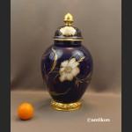 Wazon Rosenthal z pokrywą kobaltowy granat w kwiaty
