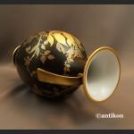 Wazony Rosenthal  czarny mat złocenia wielki pałacowy